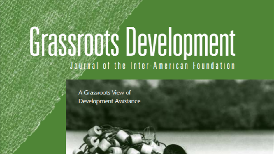 Cropped image of the cover of the 2002 Grassroots Development Journal of the IAF