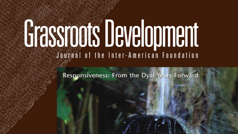 Cropped image of the cover of the Inter-American Foundation's 2005 Grassroots Development JournaL