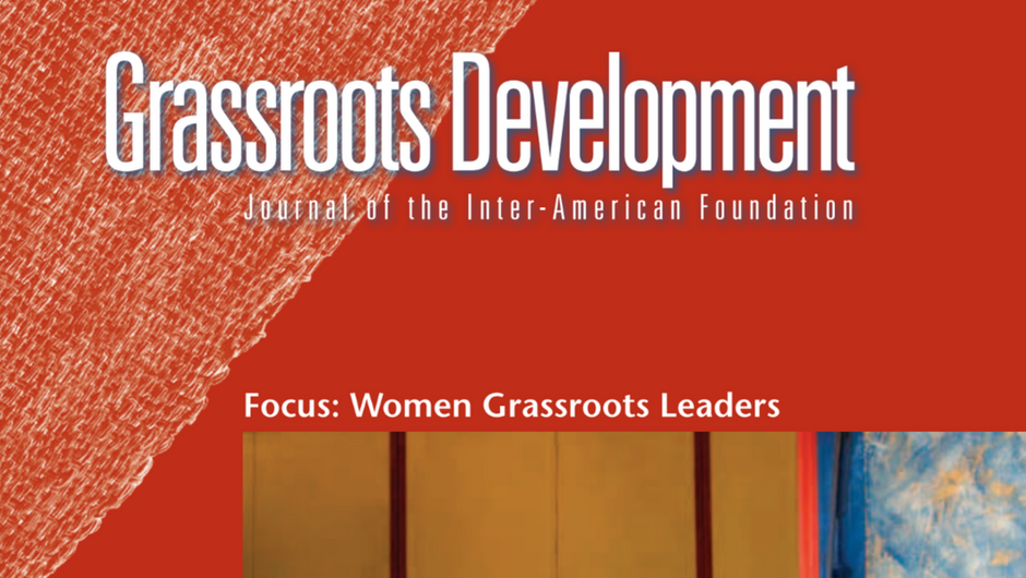Cropped image of the cover of the Inter-American Foundation's 2011 Grassroots Development Journal