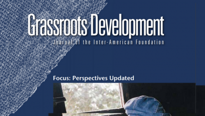 Cropped image of the cover of the Inter-American Foundation's 2014 Grassroots Development Journal