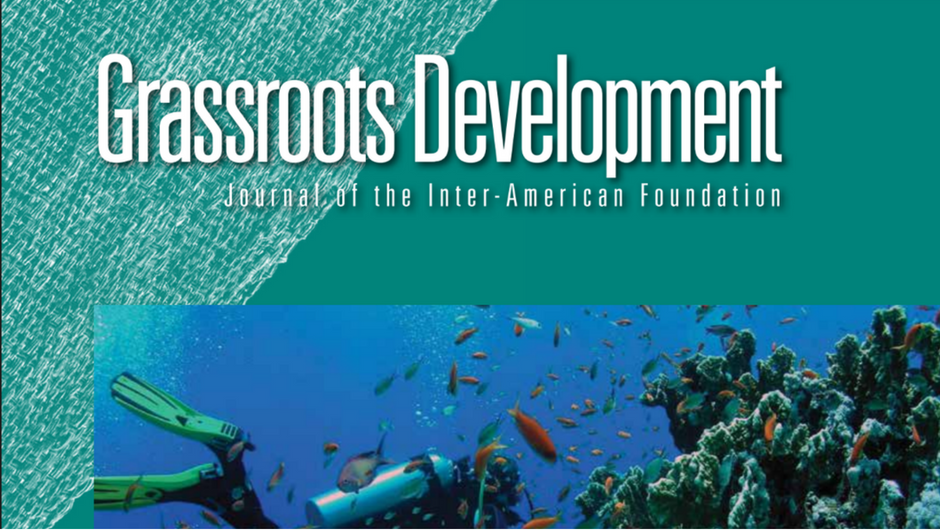 Cropped image of the cover of the Inter-American Foundation's 2015 Grassroots Development Journal