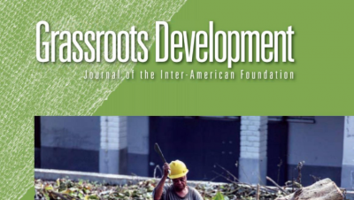 Cropped image of the cover of the Inter-American Foundation's 2016 Grassroots Development Journal