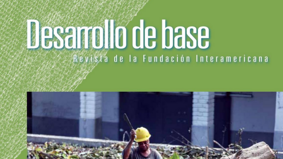 Imagen recortada de la portada de la edición 2016 de la revista Desarrollo de Base de la Fundación Interamericana
