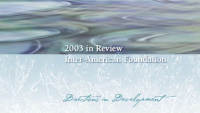 A cropped image of the cover of the IAF's 2003 Annual Report