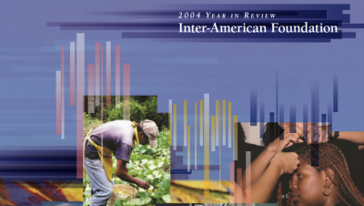 Cropped image of the cover of the IAF's 2004 Annual Report