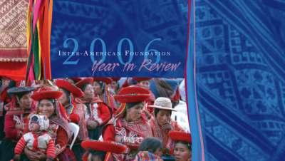 Cropped image of the cover of the IAF's 2006 Annual Report