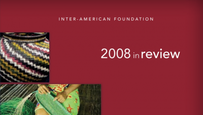 Cropped image of the cover of the IAF's 2008 Annual Report