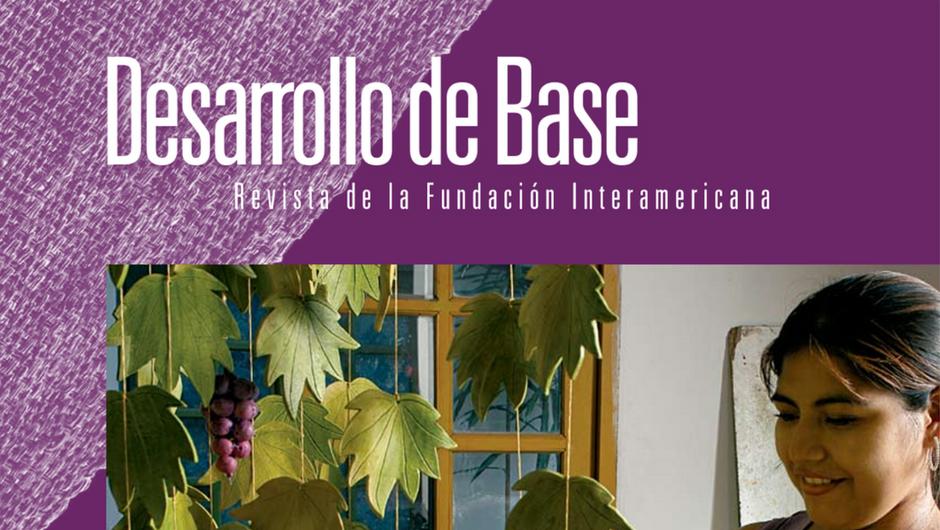 Imagen recortada de la portada de la edición 2008 de la revista Desarrollo de Base de la Fundación Interamericana