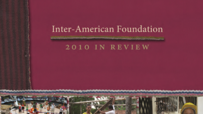 Cropped image of the cover of the IAF's 2010 Annual Report