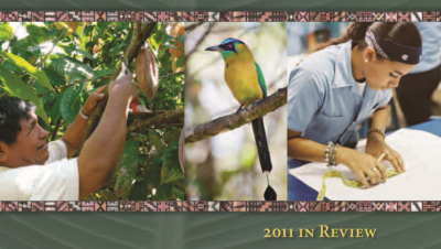 Cropped image of the cover of the IAF's 2011 Annual Report