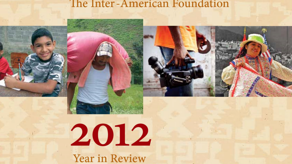 Cropped image of the cover of the IAF's 2012 Annual Report
