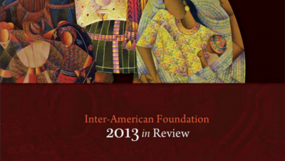 Cropped image of the cover of the IAF's 2013 Annual Report