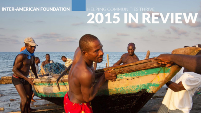 Cropped image of the 2015 IAF Annual Report