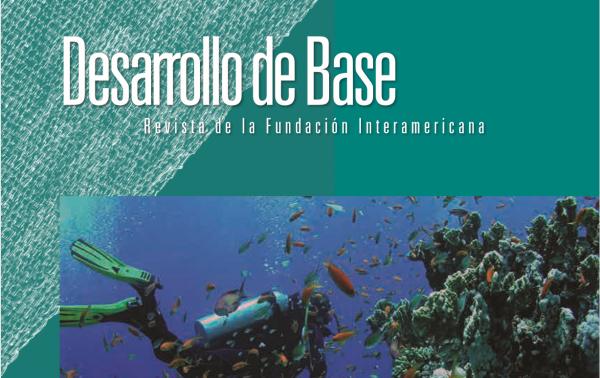 Imagen recortada de la portada de la edición 2015 de la revista Desarrollo de Base de la Fundación Interamericana