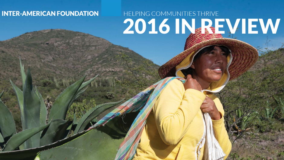 Cropped image of the cover of the 2016 Annual Report