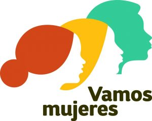 Logo of Vamos Mujeres, which shows three profiles of female heads.